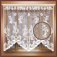 Штора тюль 255х160 см, белый, 100 п/э, шторная лента