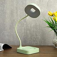 Лампа настольная сенсорная 85301/1 12хLED 3Вт диммер USB AKB светло-зеленый 11х12,8х35 см