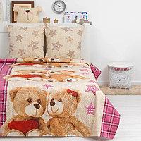 Постельное бельё Дай Поспать 'Тедди', 147х217 см, 150х220 см, 70х70 см - 2 шт