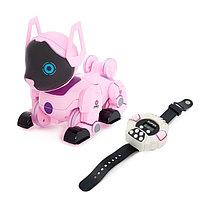 Робот-собака радиоуправляемый 'Паппи', световые и звуковые эффекты, работает от аккумулятора, цвет розовый