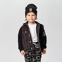 Куртка для мальчика, цвет чёрный, рост 98 см