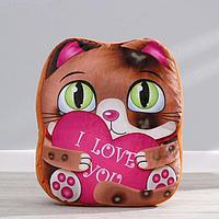 Мягкая игрушка 'Милый котик', с сердцем