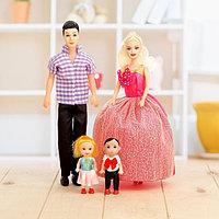 Набор кукол 'Семья' c детишками, МИКС
