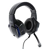 Наушники RITMIX RH-562M, игровые, полноразмерные, микрофон, 3.5 мм + USB, 1.8 м, синие