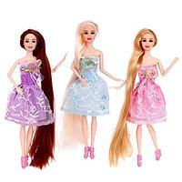 Кукла-модель шарнирная 'Оля' в платье, МИКС