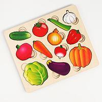 Развивающая доска 'Часть и целое. Овощи' с разрезными вкладышами внутри