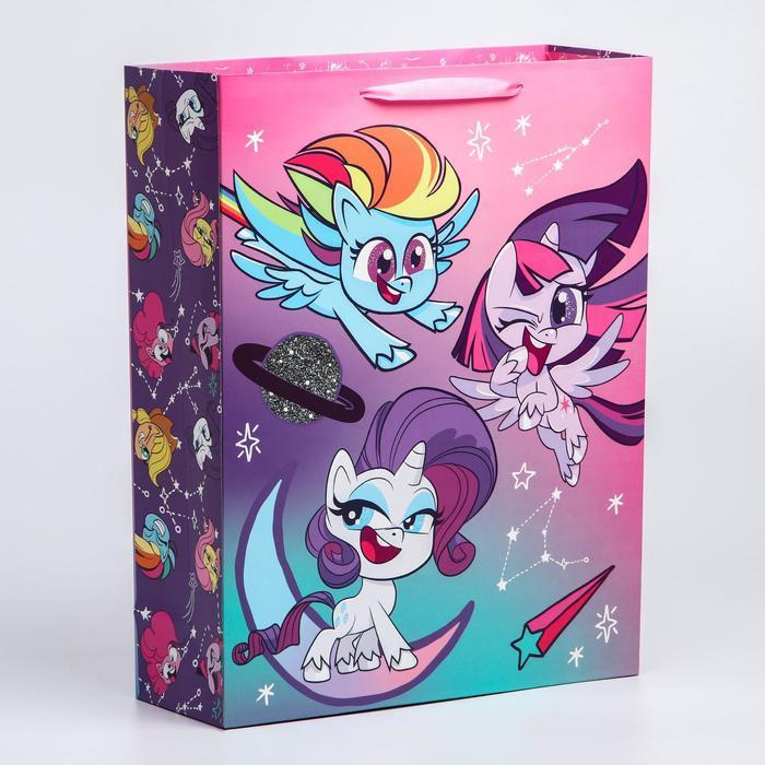 Пакет ламинат вертикальный , 31х40х11 см, My Little Pony - фото 1