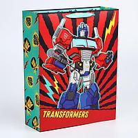 Пакет ламинат вертикальный 'С Днем Рождения!', 31х40х11 см, Transformers