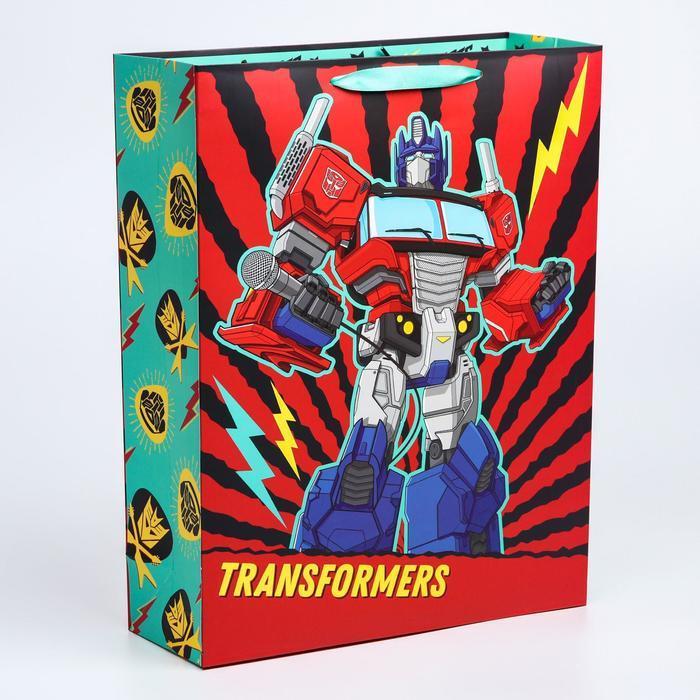 Пакет ламинат вертикальный 'С Днем Рождения!', 31х40х11 см, Transformers - фото 1