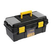 Ящик для инструмента TUNDRA, 16', 41х21х18.5 см, пластиковый, подвижный лоток, 2 органайзера