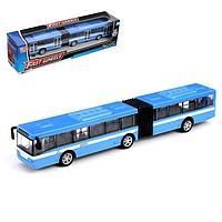 Автобус металлический 'Город', масштаб 143, инерция, МИКС