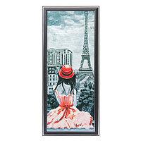Картина 'Дама в красной шляпке' 53*23 см