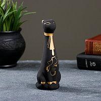 Фигура 'Кот Египетский' малый роспись чёрный 5x5,5x15см 002