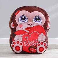 Мягкая игрушка 'Обезьянка', с сердцем