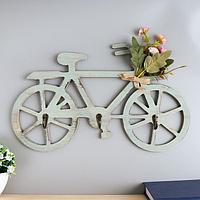 Крючки декоративные дерево 'Велосипед с букетом цветов' 22х40х3,5 см