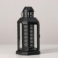 Подсвечник 'Фонарь' для чайной свечи ЭНРУМ, 22 см, черный