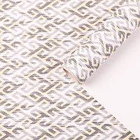 Бумага для декорирования, 'Скандинавский узор', серо-бежевый, 0,7 х 10 м