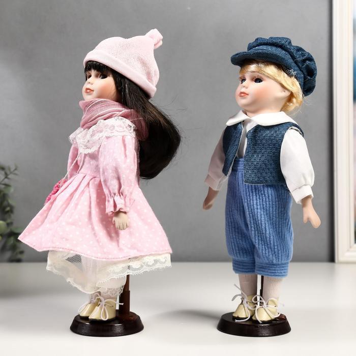 Кукла коллекционная парочка набор 2 шт 'Полина и Кирилл в розовых нарядах' 30 см - фото 2