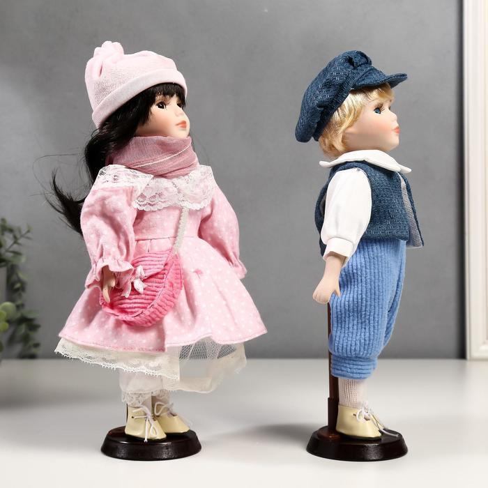 Кукла коллекционная парочка набор 2 шт 'Полина и Кирилл в розовых нарядах' 30 см - фото 3