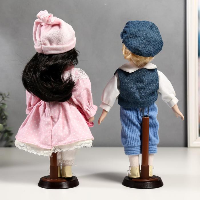 Кукла коллекционная парочка набор 2 шт 'Полина и Кирилл в розовых нарядах' 30 см - фото 4