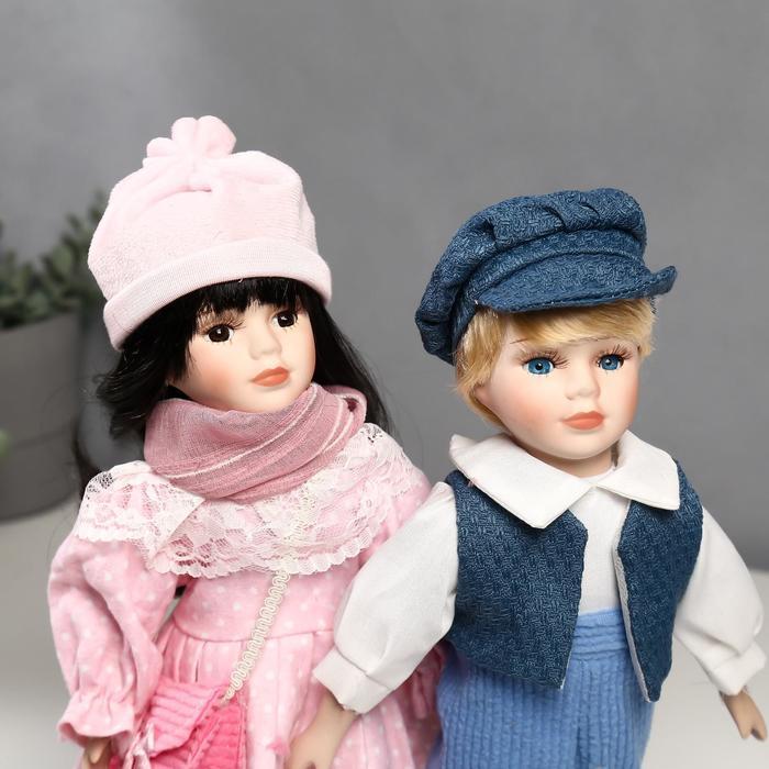 Кукла коллекционная парочка набор 2 шт 'Полина и Кирилл в розовых нарядах' 30 см - фото 5