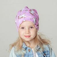 Шапка для девочки, цвет розовый/единороги, размер 54-58