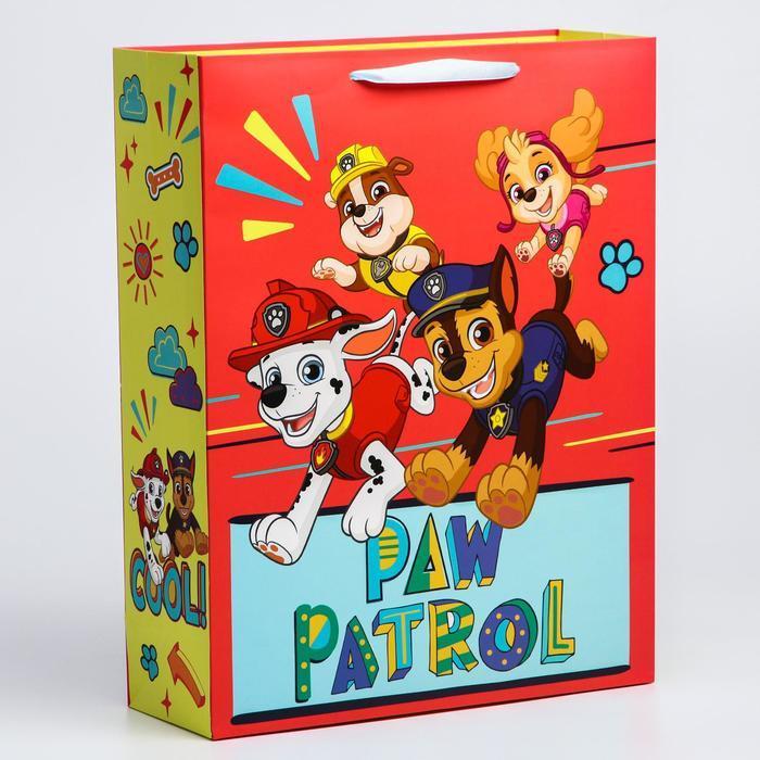 Пакет ламинат вертикальный 'Paw Patrol', 31х40х11 см, Щенячий патруль - фото 1