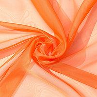 Тюль Этель 135x150 см, цвет терракотовый, вуаль, 100 п/э