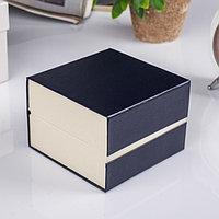 Шкатулка картон, бархат под часы 1 отделение 'Рябь' фиолет 7,5х10,5х10,5 см