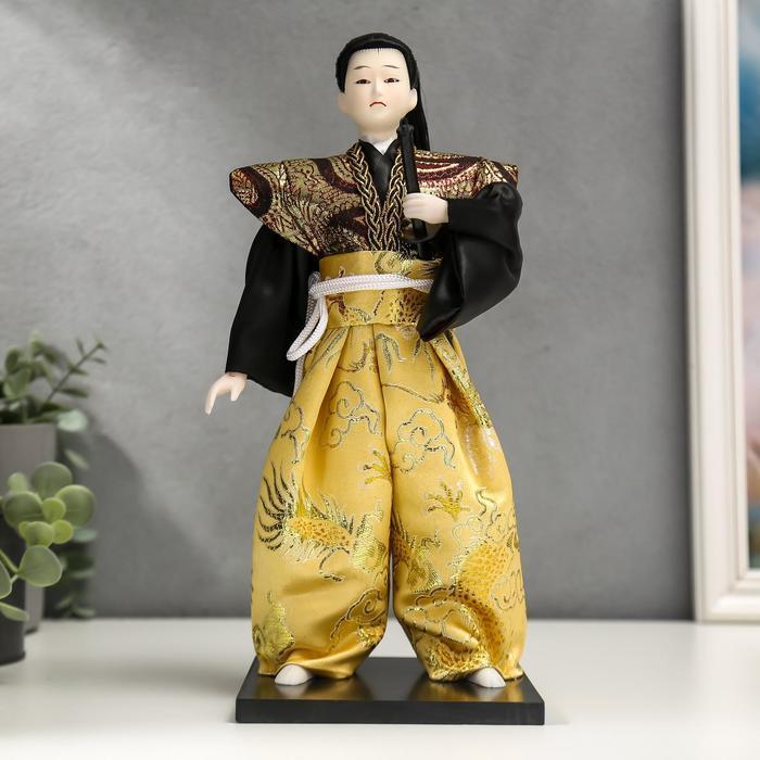 Кукла коллекционная 'Самурай с длинными волосами с мечом' 30х12,5х12,5 см - фото 1