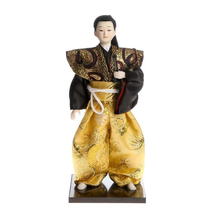 Кукла коллекционная 'Самурай с длинными волосами с мечом' 30х12,5х12,5 см - фото 6