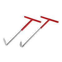 Набор крюков 'Эврика', для снятия втулок крепления глушителя, 2 шт.