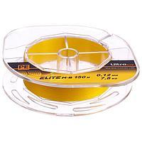 Леска плетёная Aqua Pe Ultra Elite M-8 Yellow, d0,12 мм, 150 м, нагрузка 7,8 кг