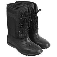 Сапоги зимние 'Аляска' мужские, цвет чёрный, на шнуровке, размер 43/44