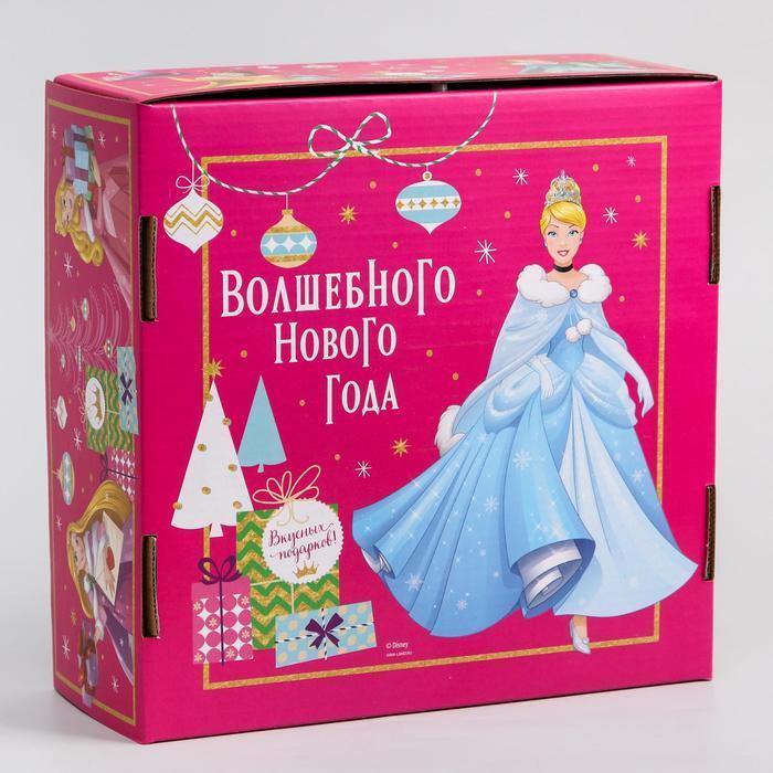 Коробка подарочная складная 'Волшебного нового года', Принцессы, 24.5 x 24.5 x 9.5 см - фото 2