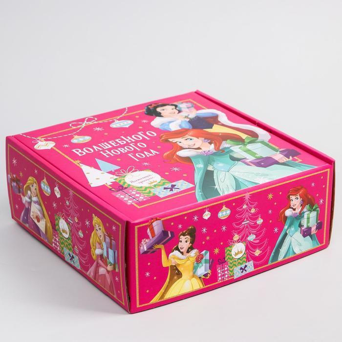 Коробка подарочная складная 'Волшебного нового года', Принцессы, 24.5 x 24.5 x 9.5 см - фото 4