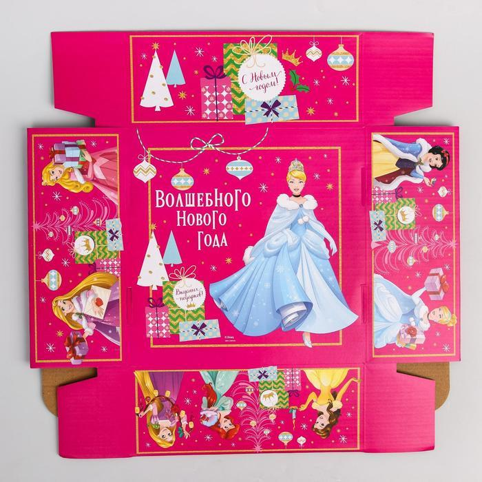 Коробка подарочная складная 'Волшебного нового года', Принцессы, 24.5 x 24.5 x 9.5 см - фото 5