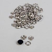 Кнопки рубашечные, закрытые, d 9,5 мм, 1000 шт, цвет чёрный