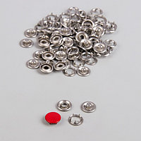 Кнопки рубашечные, закрытые, d 9,5 мм, 1000 шт, цвет красный