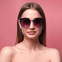 Очки солнцезащитные женские 'Минкар', uv 400, 14.5х2.4х5.7 см, линза 5.6х6 см