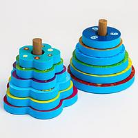 Игрушка - пирамидка для игры в ванной из EVA 'Зверушки'