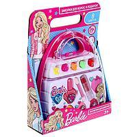 Косметика для девочек 'Барби' тени, лак д/ногтей, помада, заколки