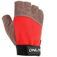 Перчатки спортивные, размер XS, цвет красный