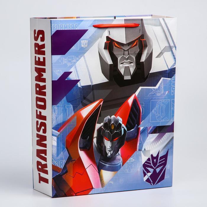 Пакет ламинат вертикальный, 31х40х11 см, Transformers - фото 1