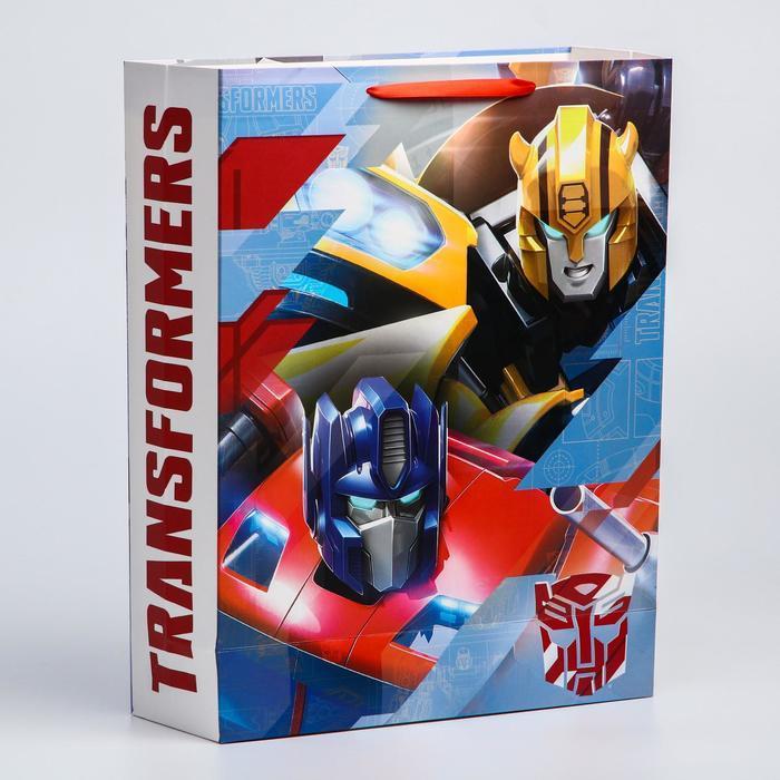 Пакет ламинат вертикальный, 31х40х11 см, Transformers - фото 2