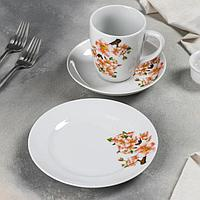 Набор посуды 'Яблоневый цвет', 3 предмета
