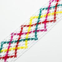 Тесьма многоцветная 'Зигзаг', ширина 4 см, в упаковке 25 м