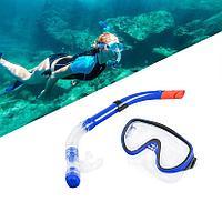 Набор для плавания Conquest (дыхательная трубка и маска) синий