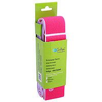 Резина для растяжки всех групп мышц, с петлями, MEDIUM, 90 x 4 cм, цвет розовый