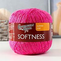 Пряжа Softness (Нежность) 47 хлопок, 53 вискоза 400м/100гр флоксx1 (30158) (комплект из 2 шт.)
